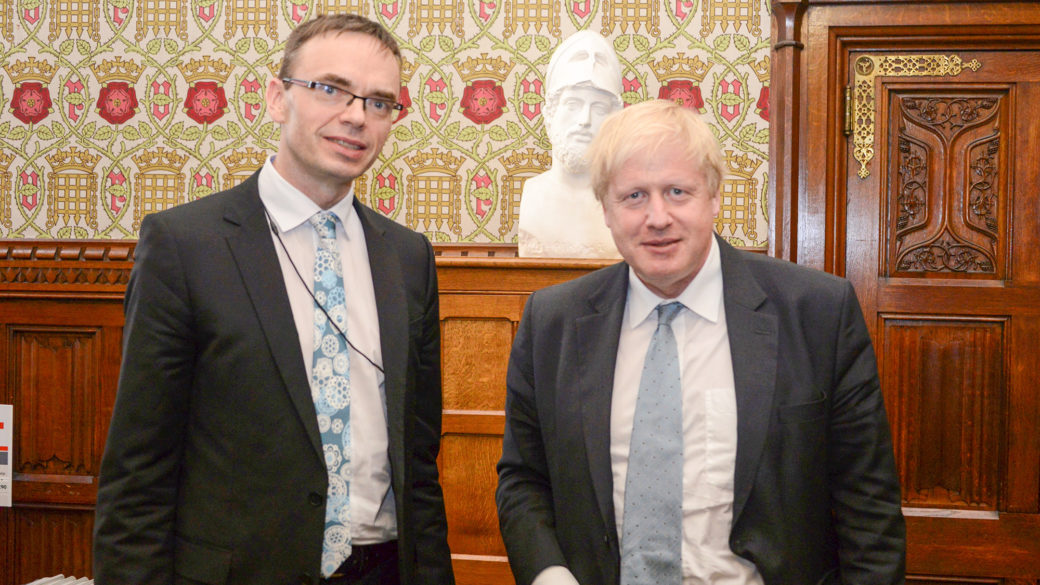Sven Mikser and Boris Johnson