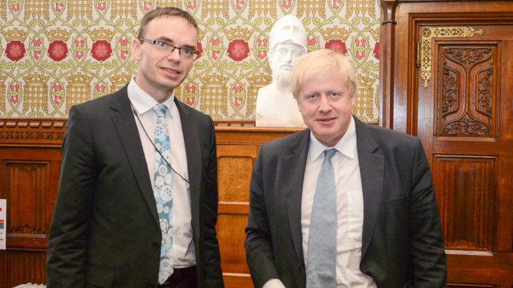 Sven Mikser and Boris Johnson